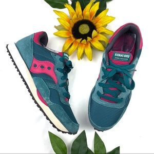 Saucony DXN Trainer Shoes Sneakers Teal Running